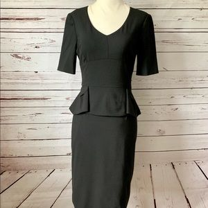 Antonio Melani Black Peplum Dress